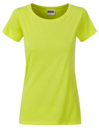 Basic T Organic 100% Bio-Baumwolle Woman - Acid Yellow