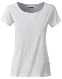 Basic T Organic 100% Bio-Baumwolle Woman - Ash Heather