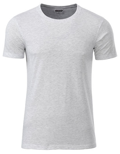 Basic T Organic 100% Bio-Baumwolle Man - Ash Heather