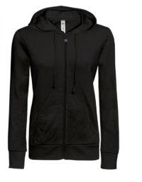 Basic Zip-Hoodie Woman - Black