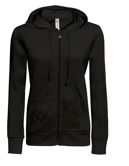 Basic Zip-Hoodie Woman - Black