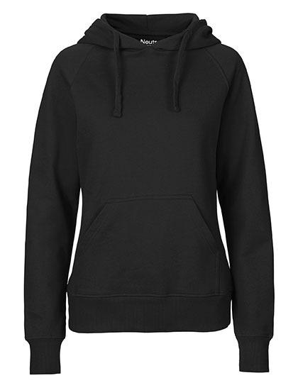 Hoodie Organic 100% Bio-Baumwolle Woman - Black