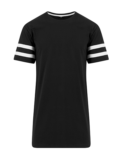 Premium T-Shirt XTRA-Long Stripes Man - Black / White