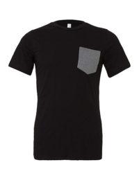 Premium Pocket T-Shirt Man - Black / Deep Heather