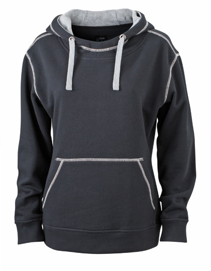 Premium Lifestyle Hoodie Woman - Black-Grey Heather