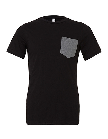 Premium Pocket T-Shirt Man - Black / Deep Heather
