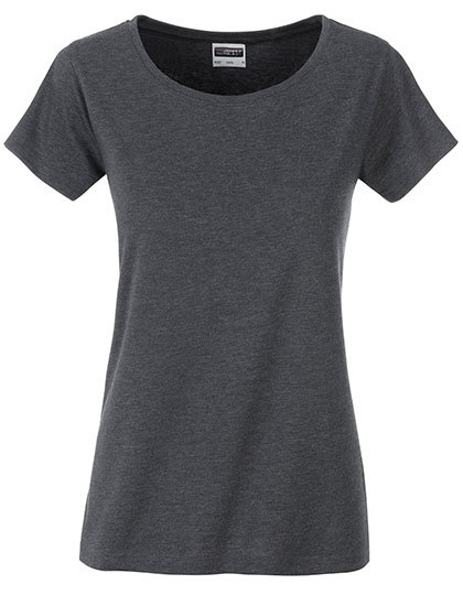 Basic T Organic 100% Bio-Baumwolle Woman - Black Heather