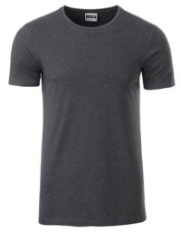 Basic T Organic 100% Bio-Baumwolle Man - Black Heather