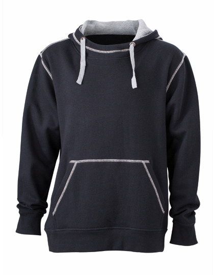 Premium Lifestyle Hoodie Man - Black-Heather Grey