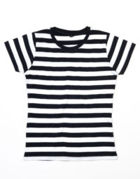 Premium T-Shirt Stripes Woman - Black / White