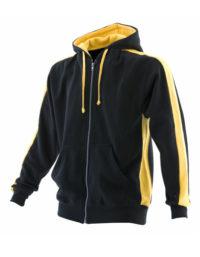 Premium Full Zipped Hoodie Man - Black-Yellow