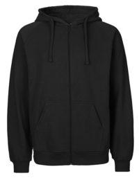 Zip-Hoodie Organic 100% Bio-Baumwolle Man - Black