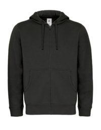 Basic Zip-Hoodie Man - Black