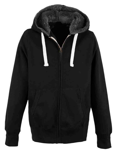 Premium Fur Lined Chunky Zoodie Man - Black