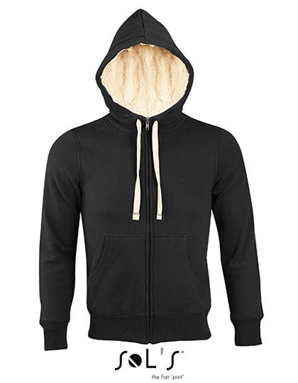 Premium Zipped Jacket Sherpa Woman - Black