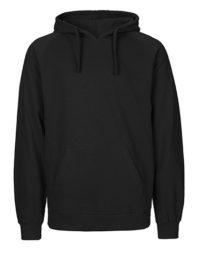 Hoodie Organic 100% Bio-Baumwolle Man - Black