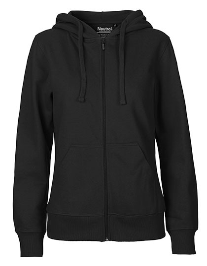 Zip-Hoodie Organic 100% Bio-Baumwolle Woman - Black