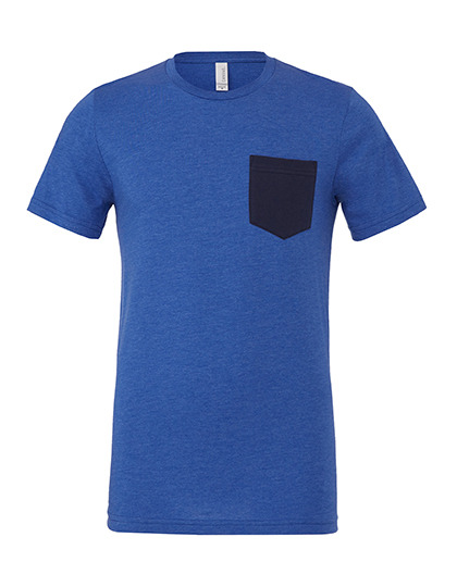 Premium Pocket T-Shirt Man - Heather True Royal / Navy