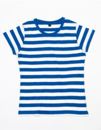 Premium T-Shirt Stripes Woman - Blue / White