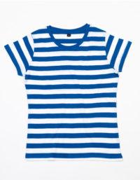Premium T-Shirt Stripes Woman - Blue / White