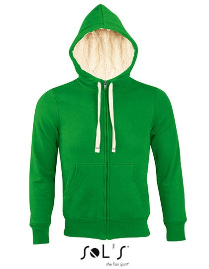 Premium Zipped Jacket Sherpa Woman - Bud Green