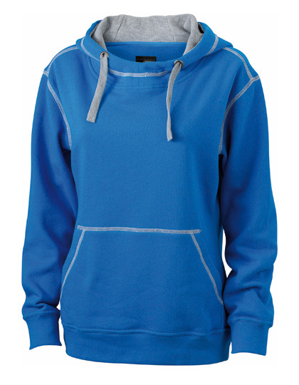 Premium Lifestyle Hoodie Woman - Cobalt-Grey Heather