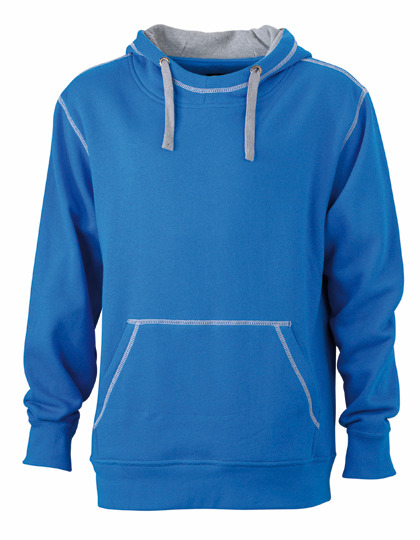 Premium Lifestyle Hoodie Man - Cobalt-Heather Grey