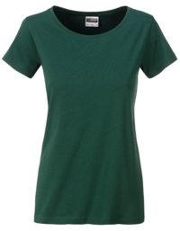 Basic T Organic 100% Bio-Baumwolle Woman - Dark Green
