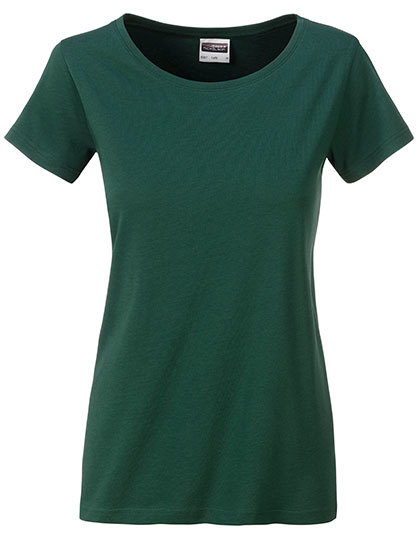 Basic T Organic 100% Bio-Baumwolle Woman - Dark Green