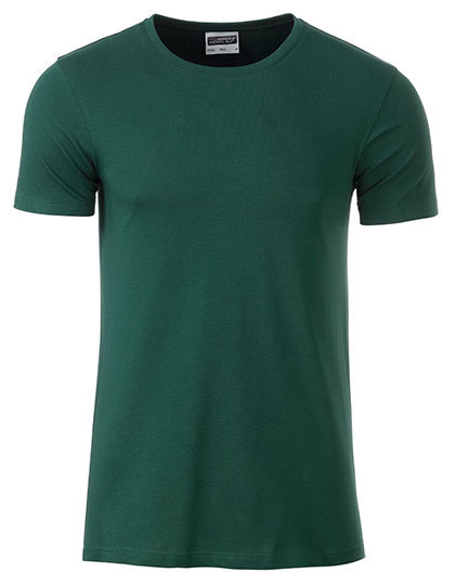 Basic T Organic 100% Bio-Baumwolle Man - Dark Green