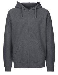Zip-Hoodie Organic 100% Bio-Baumwolle Man - Dark Heather