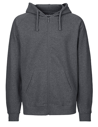 Zip-Hoodie Organic 100% Bio-Baumwolle Man - Dark Heather