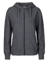 Zip-Hoodie Organic 100% Bio-Baumwolle Woman - Dark Heather