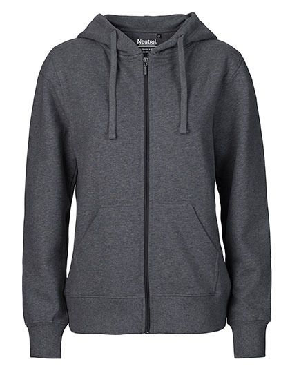Zip-Hoodie Organic 100% Bio-Baumwolle Woman - Dark Heather