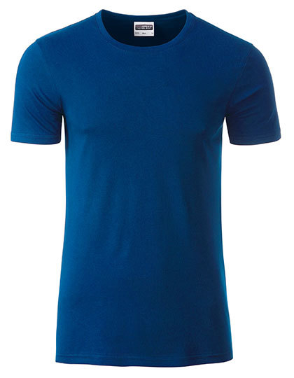 Basic T Organic 100% Bio-Baumwolle Man - Dark Royal