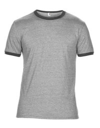 Premium Ringer T-Shirt Man - Heather Grey / Dark Grey