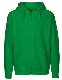 Zip-Hoodie Organic 100% Bio-Baumwolle Man - Green