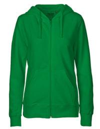Zip-Hoodie Organic 100% Bio-Baumwolle Woman - Green