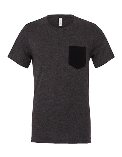 Premium Pocket T-Shirt Man - Dark Grey Heather / Black