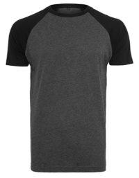 Premium T-Shirt Raglan Man - Charcoral Heather / Black