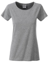Basic T Organic 100% Bio-Baumwolle Woman - Grey Heather