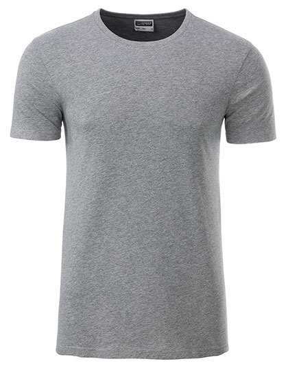 Basic T Organic 100% Bio-Baumwolle Man - Grey Heather