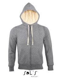 Premium Zipped Jacket Sherpa Woman - Grey Melange