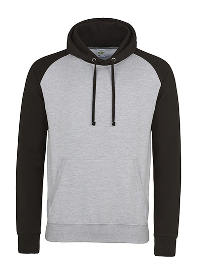 Premium Baseball Hoodie Man - Heather Grey-Jet Black