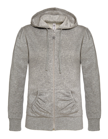 Basic Zip-Hoodie Woman - Heather Grey
