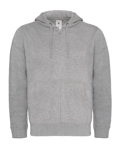 Basic Zip-Hoodie Man - Heather Grey