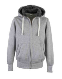 Premium Fur Lined Chunky Zoodie Man - Heather Grey