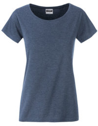 Basic T Organic 100% Bio-Baumwolle Woman - Light Denim Melange