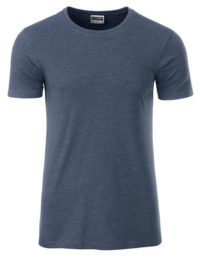 Basic T Organic 100% Bio-Baumwolle Man - Light Denim Melange