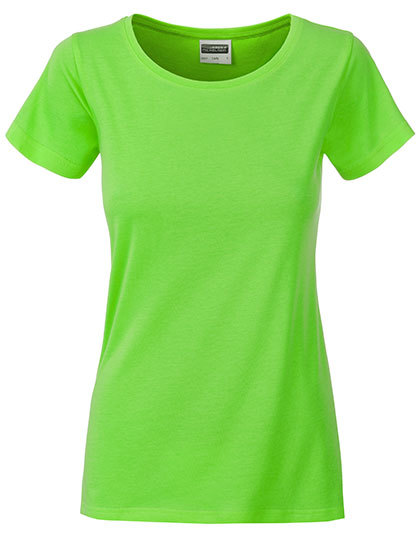 Basic T Organic 100% Bio-Baumwolle Woman - Lime Green
